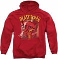 Plastic Man pull-over hoodie Man Street adult red