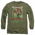 Poison Ivy adult long-sleeved shirt Botanical Beauty military green