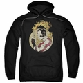 Rai pull-over hoodie Japanese Print adult black