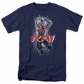 Rai t-shirt Leap And Slice mens navy