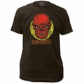 Red Skull Circle Portrait Fitted Jersey t-shirt