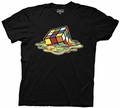 Rubiks Cube Melting Cube mens t-shirt