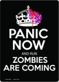 Run Zombies Coming Tin Wall Sign pre-order