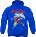 Shazam! pull-over hoodie Let's Fly adult royal blue
