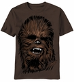 Star Wars Chewbacca Chewy Face t-shirt men Brown pre-order