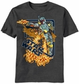 Star Wars Digi Fett t-shirt men charcoal heather pre-order