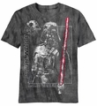 Star Wars Distressed V Darth Vader t-shirt men Charcoal River Wash pre-order