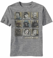 Star Wars Face Wars t-shirt men Heather Grey pre-order
