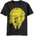 Star Wars Falcon 1000 t-shirt men Black pre-order