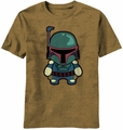 Star Wars Kawaii Hunter Boba Fett t-shirt men Mocha Heather pre-order