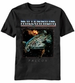 Star Wars Millennium Falcon Rock t-shirt men Black pre-order