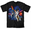 Star Wars New Hope Full Cast mens t-shirt