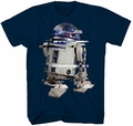Star Wars R2-D2 Vertical Hold t-shirt men navy pre-order