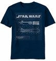 Star Wars Saber Diagram t-shirt men Navy pre-order