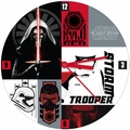 "Star Wars The Force Awakens 13.5"" Cordless Wood Wall Clock pre-order"