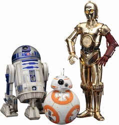 Star Wars VII C-3PO R2-D2 BB-8 Artfx+ Statue set