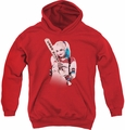 Suicide Squad youth teen hoodie bat at you red