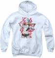 Suicide Squad youth teen hoodie drawn bat white