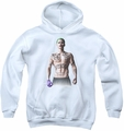 Suicide Squad youth teen hoodie joker stance white