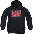 Suicide Squad youth teen hoodie lineup logo black
