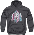 Suicide Squad youth teen hoodie puddin portrait charcoal