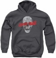 Suicide Squad youth teen hoodie skull charcoal