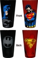 Superman & Batman Pint Glass 2-Pack Gift Set