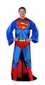 Superman Comfy Throw Fleece Blanket With Sleeves pre-order