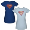 Superman Logo Juniors t shirt
