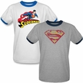 Superman mens ringer t shirt