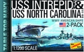 Tabletop Navy 2-Pack Uss Intrepid/Nc Model Kit Set pre-order