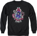 Teen Titans Go adult crewneck sweatshirt Raven black