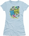 Teen Titans Go juniors t-shirt Go light blue
