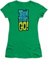 Teen Titans Go juniors t-shirt Logo kelly green