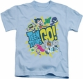 Teen Titans Go kids t-shirt Go light blue