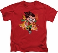 Teen Titans Go kids t-shirt Robin red