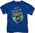 Teen Titans Go kids t-shirt T royal blue