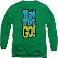 Teen Titans Go long-sleeved shirt Logo kelly green