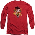 Teen Titans Go long-sleeved shirt Robin red