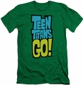 Teen Titans Go slim-fit t-shirt Logo mens kelly green