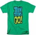 Teen Titans Go t-shirt Logo mens kelly green