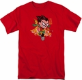 Teen Titans Go t-shirt Robin mens red