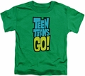 Teen Titans Go toddler t-shirt Logo kelly green