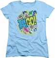 Teen Titans Go womens t-shirt Go light blue