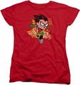 Teen Titans Go womens t-shirt Robin red