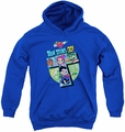 Teen Titans Go youth teen hoodie T royal blue