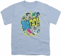 Teen Titans Go youth teen t-shirt Go light blue