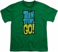 Teen Titans Go youth teen t-shirt Logo kelly green