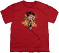 Teen Titans Go youth teen t-shirt Robin red