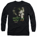 The Joker adult long-sleeved shirt Welcome To The Madhouse black